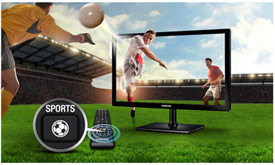 Sports mode lets yor activate features simultaneously