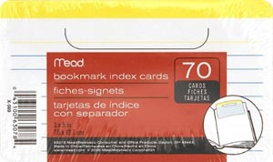 Mead Bookmark Index Cards with Flap