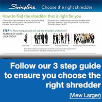 Follow Swingline's 3 Step Guide to Ensure You Choose the Right Shredder