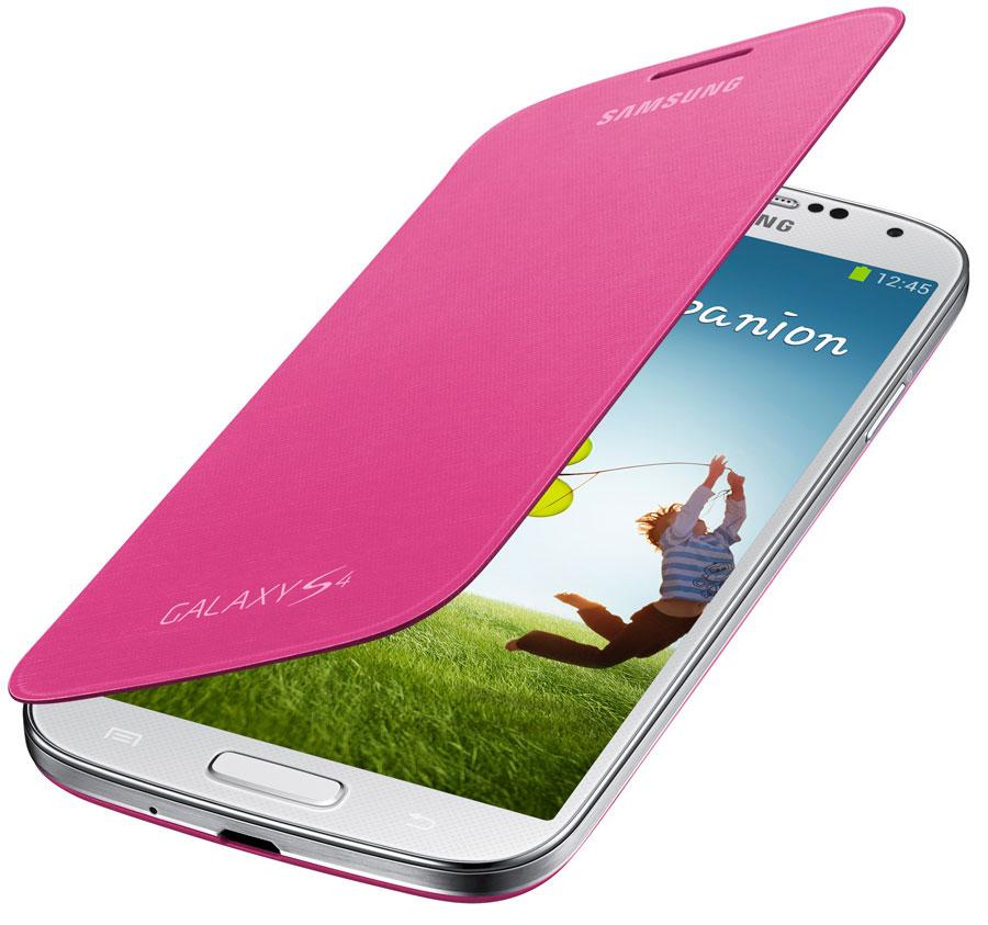 Amazon.com: Samsung Galaxy S4 Flip Cover Folio Case (Pink