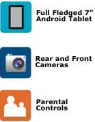 Character Personalization, Full Fledged 7-inch Andoid Tablet, Parental Controls, Rear and Front Cameras