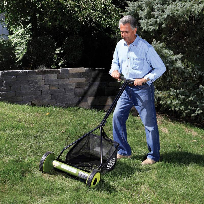 Manual Push Lawn Mower Walk Behind Grass Reel With