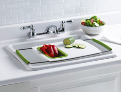 Attirant The Ideal Fruits U0026 Vegetable Cutting Board Designed For You To Work  Directly Over Your Sink. Trudeauu0027s Over The Sink Cutting Board Wonu0027t Take  Up Any More Of ...