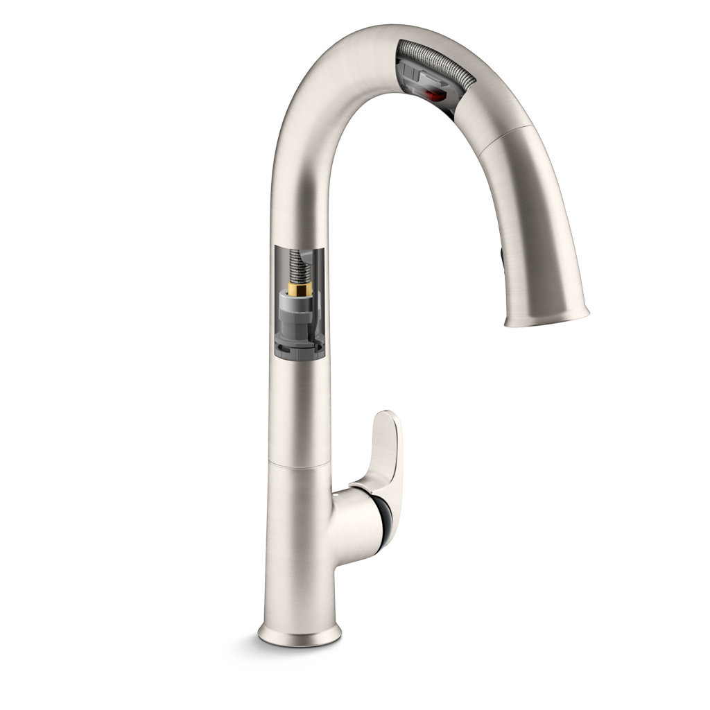 kitchen faucet touchless kohler k 72218 vs sensate touchless kitchen faucet vibrant stainless touchless kitchen sink 5320