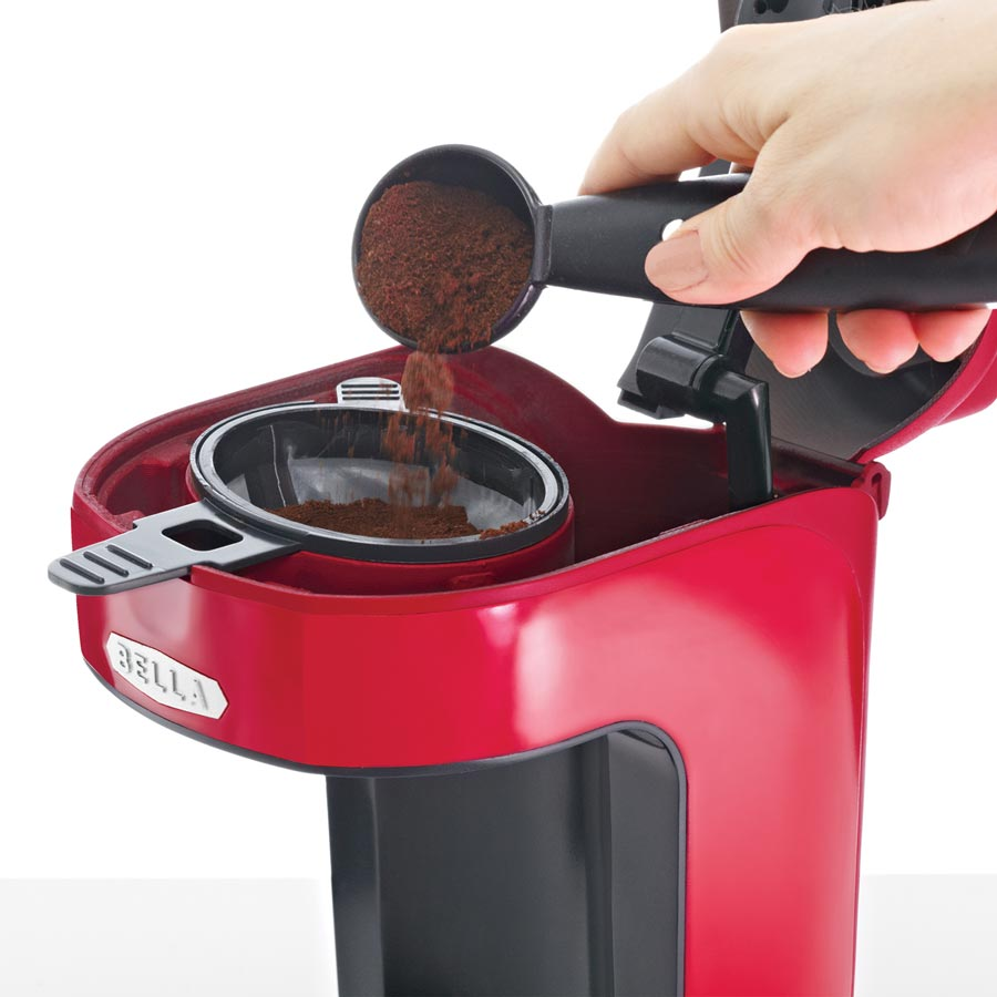 Bella Red Coffee Maker Manual : Amazon.com: BELLA 13711 One Scoop One Cup Coffee Maker, Red: Single Serve Brewing Machines ...
