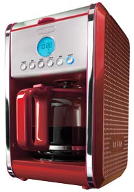 NEW BELLA 13839 Dots Collection 12 Cup Programmable Coffee Maker Red eBay