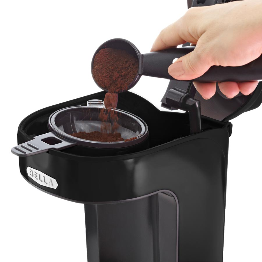Amazon.com: BELLA 13930 One Scoop One Cup Coffee Maker, Black: Single Serve Brewing Machines ...