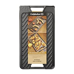 Calphalon Pre-Seasoned Cast Iron Reversible Grill and Griddle - Hero Image