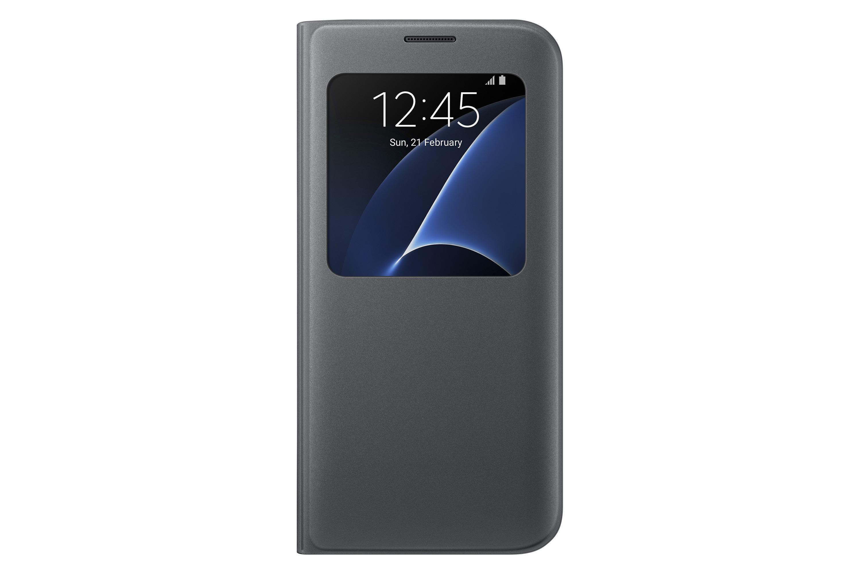 Amazon.com: Samsung Galaxy S7 edge Case S-View Flip Cover - Black