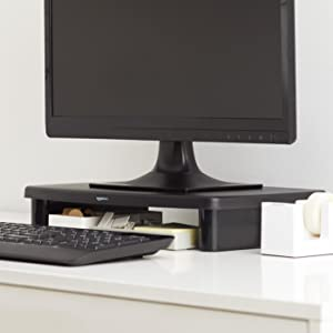 Amazoncom AmazonBasics Adjustable Monitor Stand Computers
