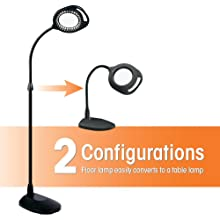 Amazon.com: OttLite 438PN9 2-in-1 LED Mag Floor and Table Lamps, 18 ...