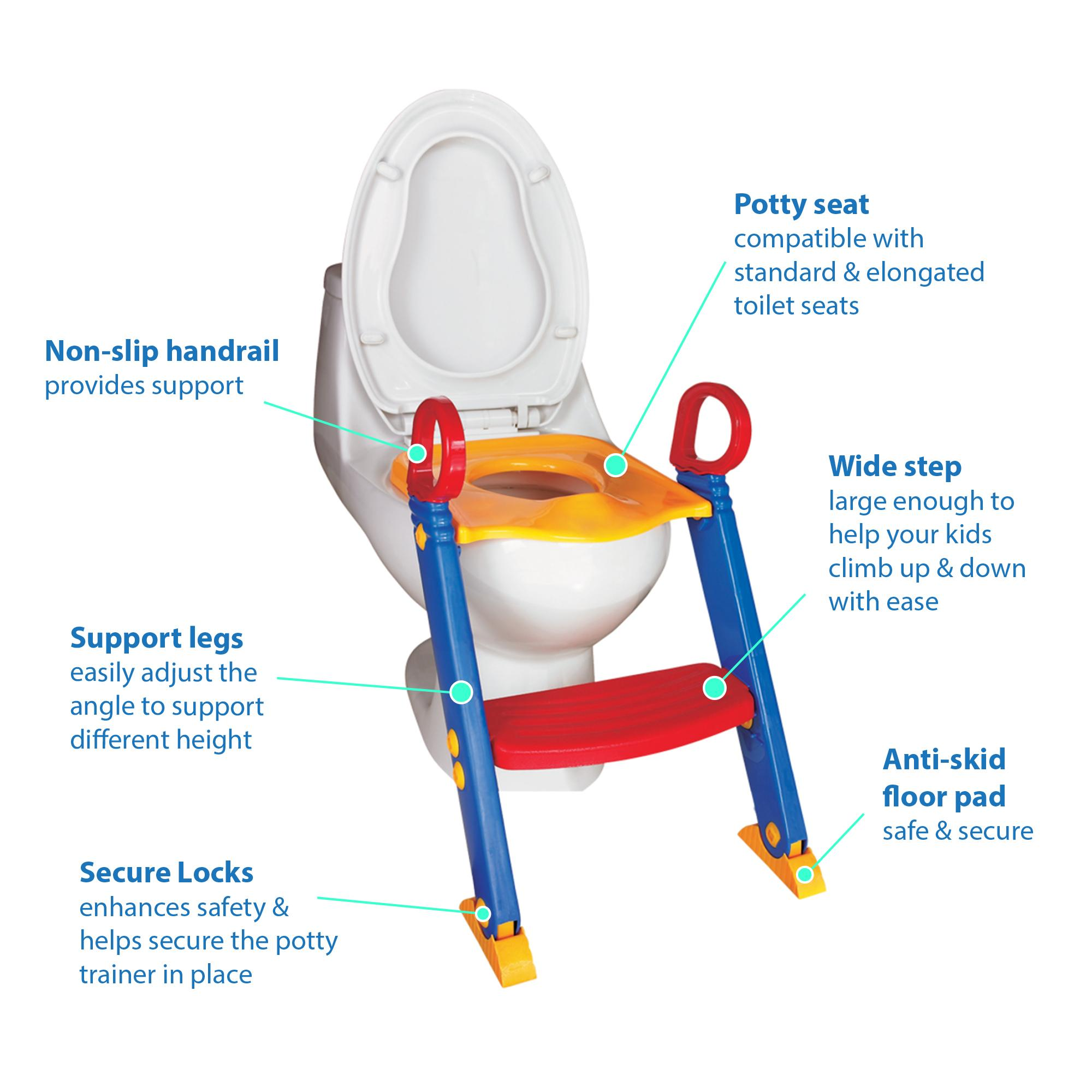 potty training potty training seat toilet trainer toilet training step up potty  sc 1 st  Amazon.com & Amazon.com: Chummie Joy 6 In 1 Portable Potty Training Ladder Step ... islam-shia.org