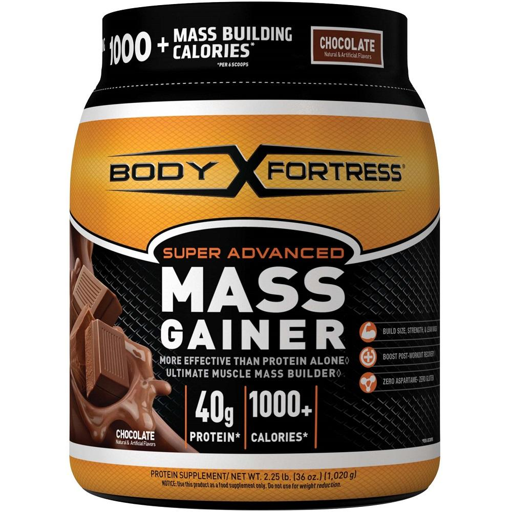 Amazon.com: Body Fortress Super Advanced Mass Gainer, Chocolate, 2.25 Pounds: Health & Personal Care