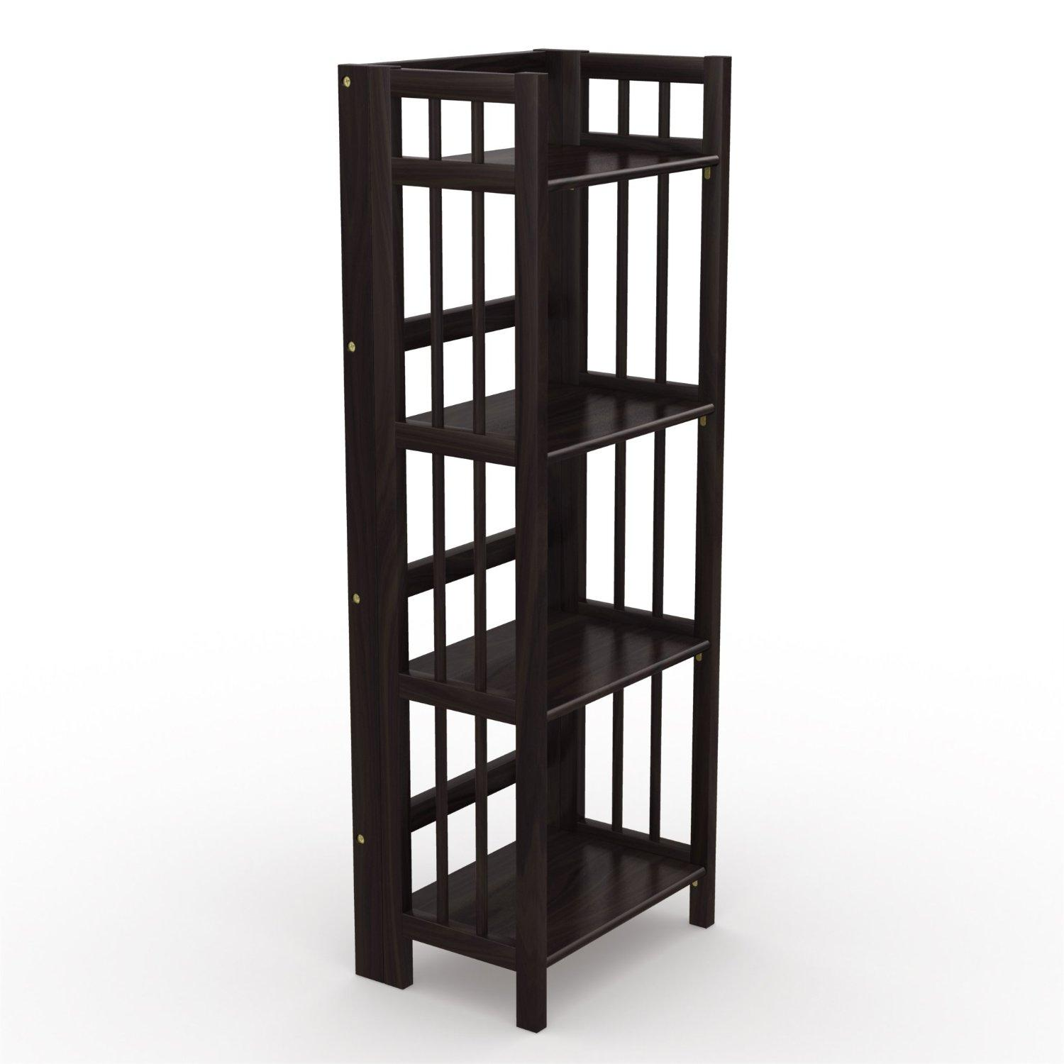 Folding bookcase cabinet storage home office furniture Folding bookshelf