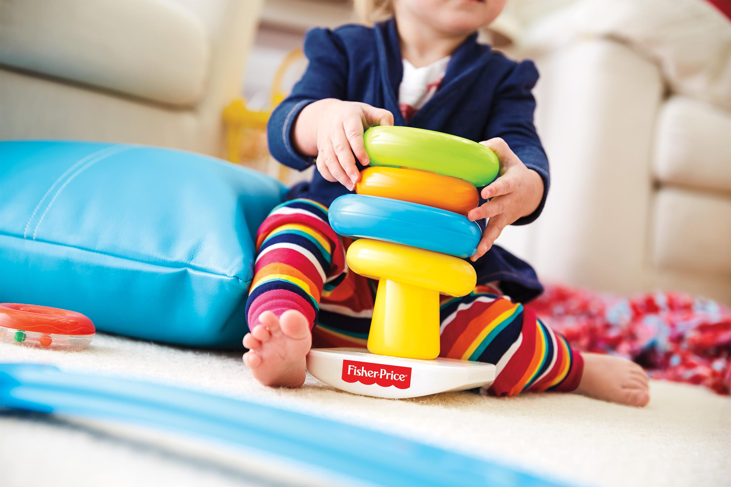 Amazon.com: Fisher-Price Rock-a-Stack and Baby's 1st