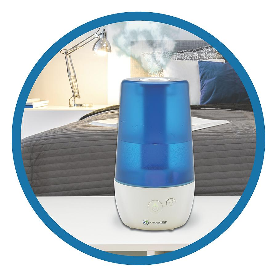 Small Room Vaporizer Of Pureguardian 12l Output Per Day Ultrasonic