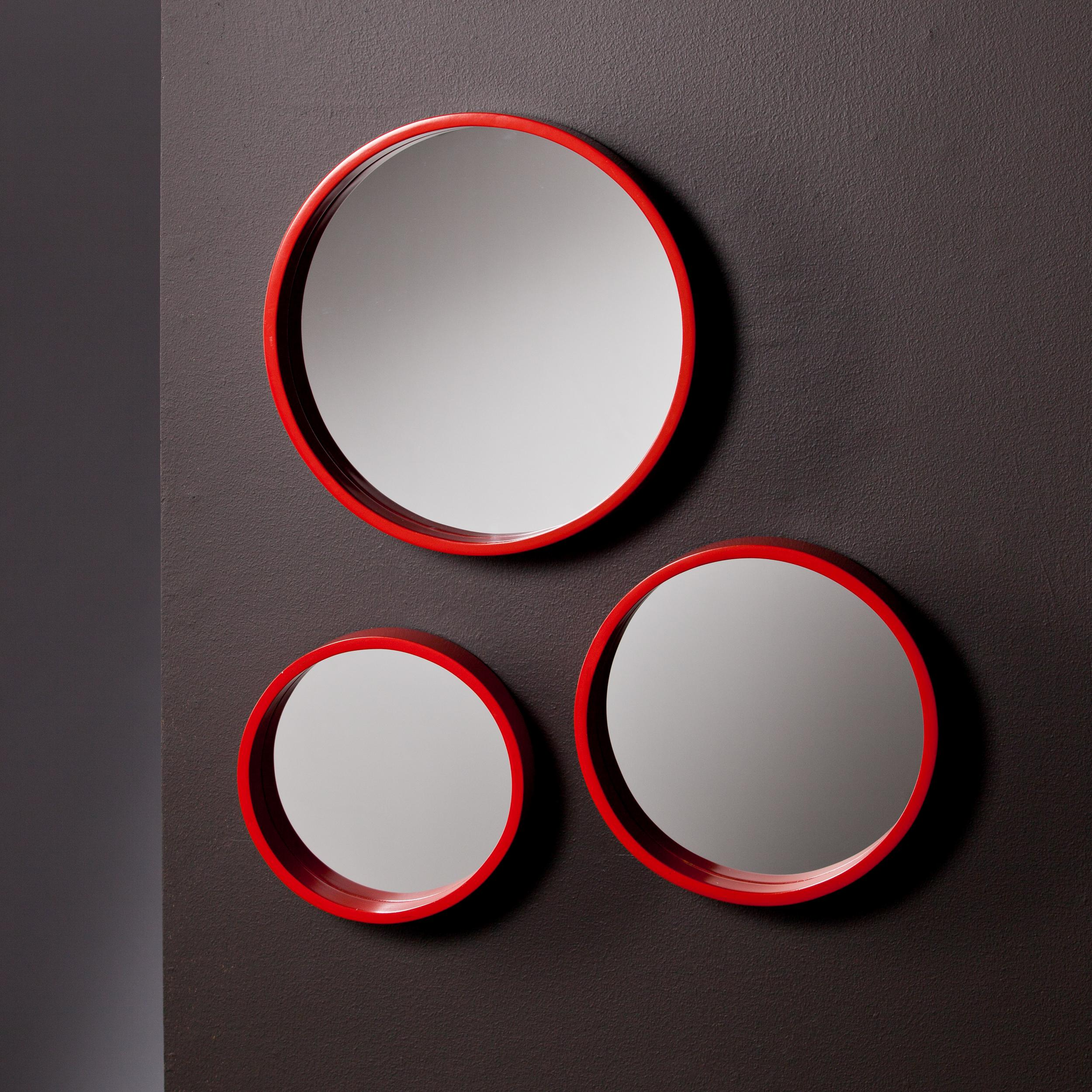 Amazon holly martin daws wall mirror 3pc set red orange view larger amipublicfo Gallery