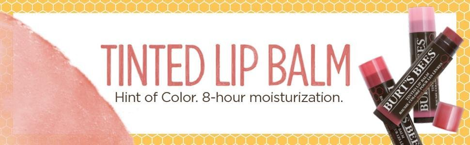 tinted lip balm;lip color;natural lip;tinted balm;burt's bees;lipstick;lip gloss;lip stain;organic