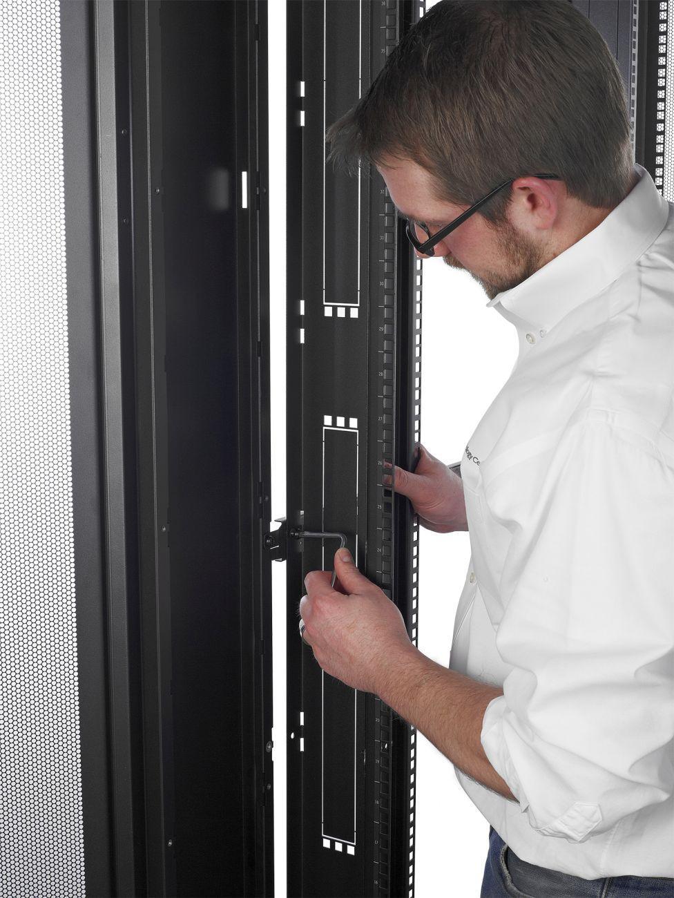 Apc Netshelter Sv 42u 600mm Wide X 1060mm Deep Enclosure Rack Server Ar3100 Sx View Larger