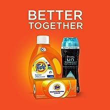 Tide Plus Bleach Alternative Original Scent HE Turbo Clean Liquid Laundry Detergent; bundle