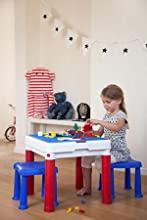 Keter Constructable Includes Flip Panel Compatible With Duplo Mega Bloks Or  Lego
