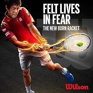burn racket, wilson tennis, wilson burn racket, tennis racket, wilson tennis racket, burn, baseliner