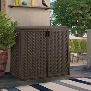 Amazon.com : Suncast Elements Outdoor 40-Inch Wide Cabinet ...