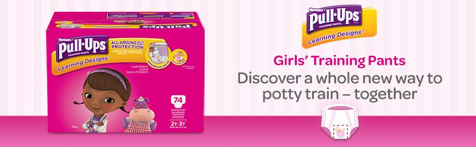 Discover Pull-Ups best way to potty train a girl with Learning Designs Girls Training Pants.