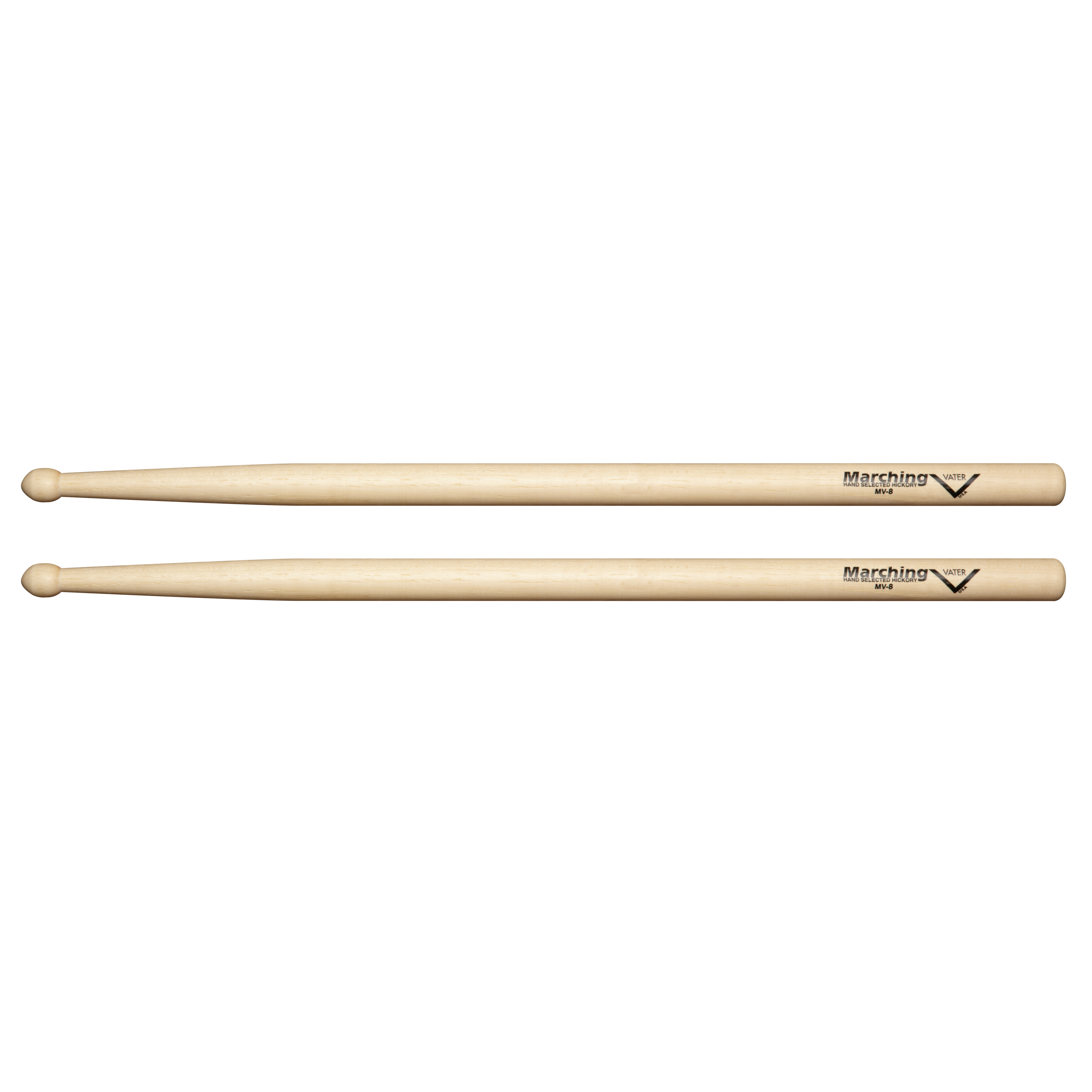 vater vat mv8 marching drum sticks with rounded acorn tip pair musical instruments. Black Bedroom Furniture Sets. Home Design Ideas