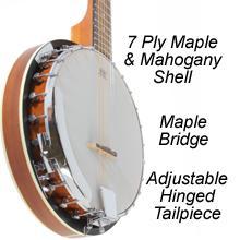 real wood banjo shell