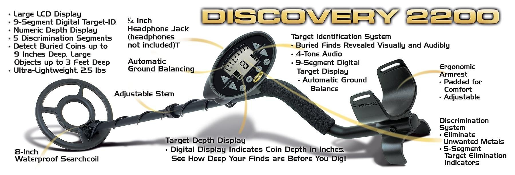 Discovery 2200 Bounty Hunter Metal Detector