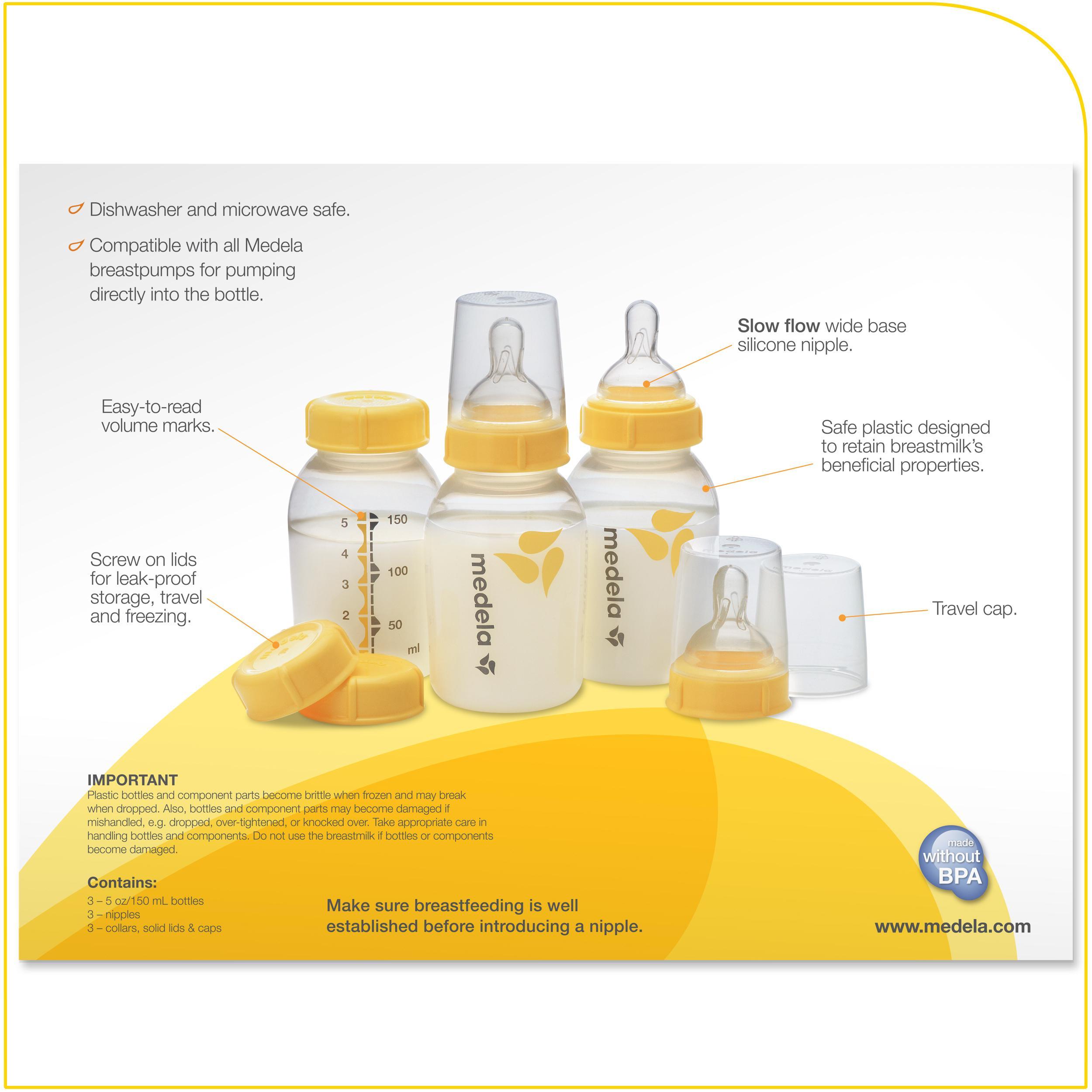 Amazon.com: Conjunto de botella Medela para leche materna ...