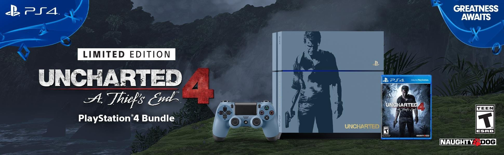 Sony Playstation 4 500gb Console Uncharted 4 Limited Edition