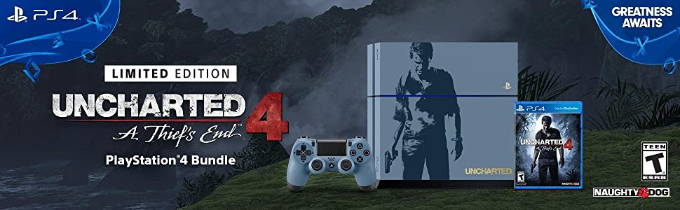bundle;console;system;hardware;uncharted;uncharted4;playstation;ps4;playstation4;limited;edition;