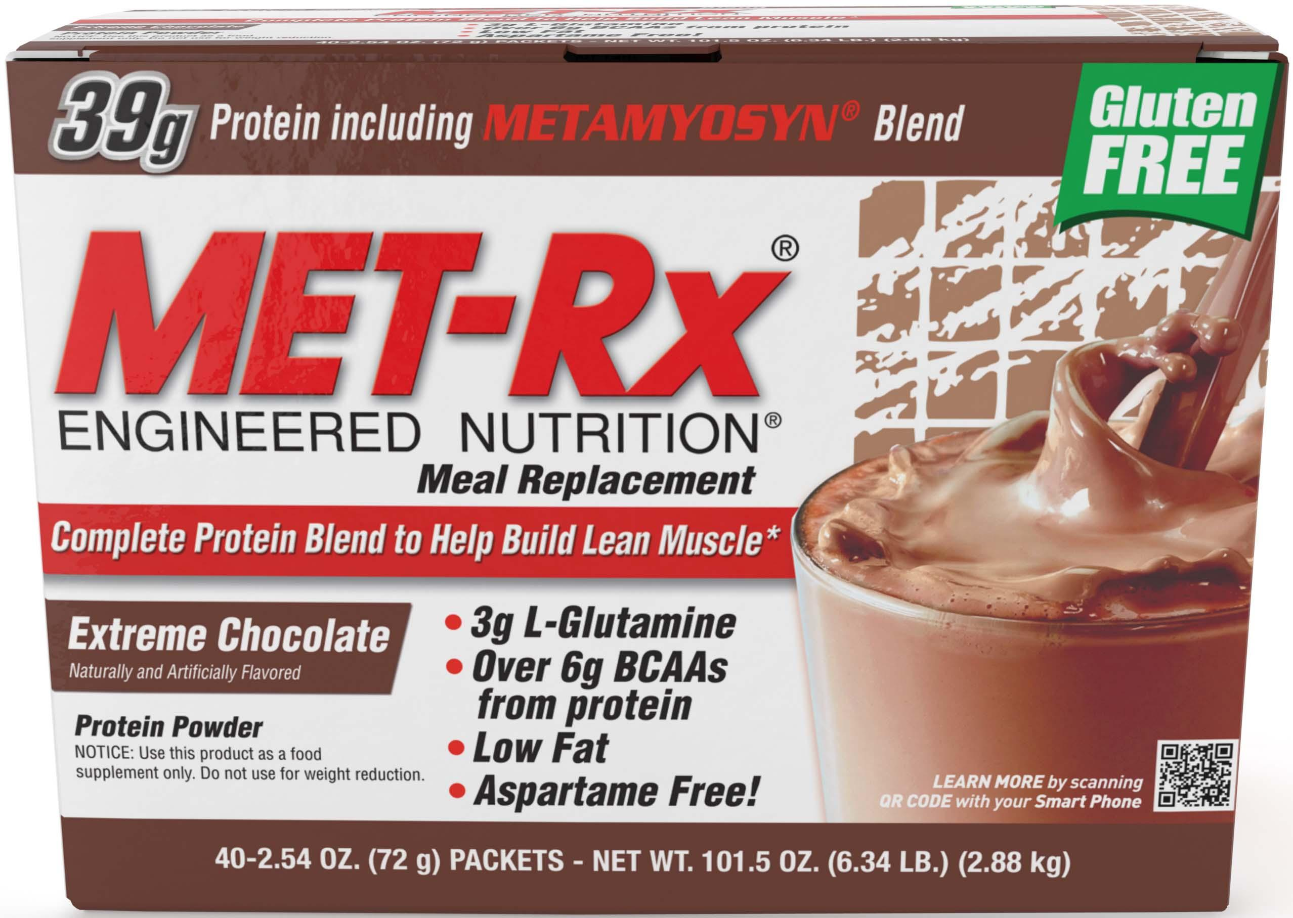 Amazon.com: MET-Rx® Original Meal Replacement Extreme Chocolate ...