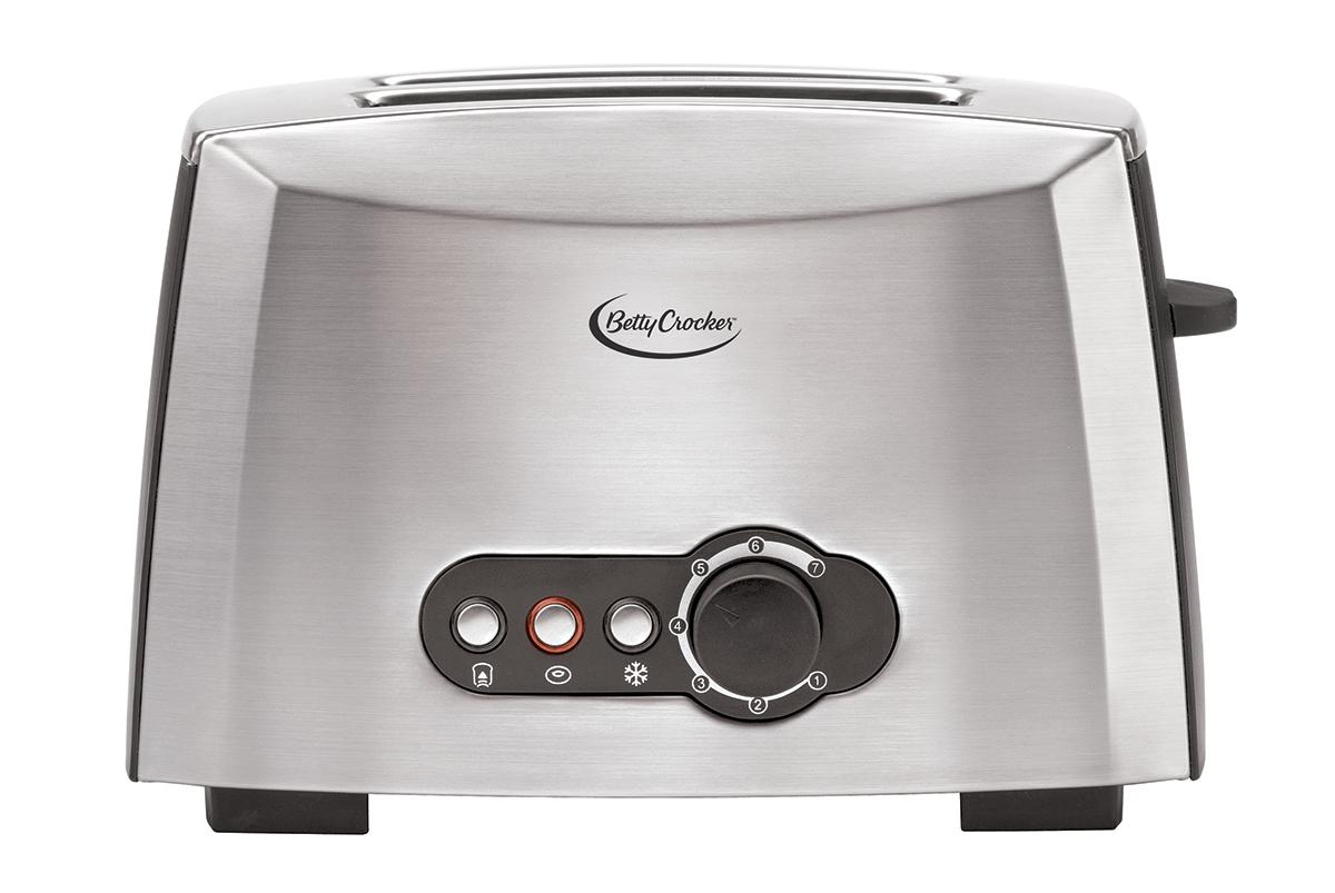Amazon.com: Betty Crocker BC-1618C 2-Slice Toaster, Brushed ...