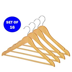 hangers, hanger, wood, suit, men, clothes, closet, natural, AmazonBasics Wood Suit Hangers, coat
