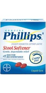 Phillips Milk of Magnesia · Phillips Laxative Caplets · Phillips Stool Softener