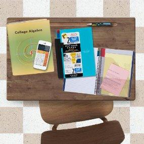 2 subject notebook, notebook with dividers, college ruled notebook, CornerTAB