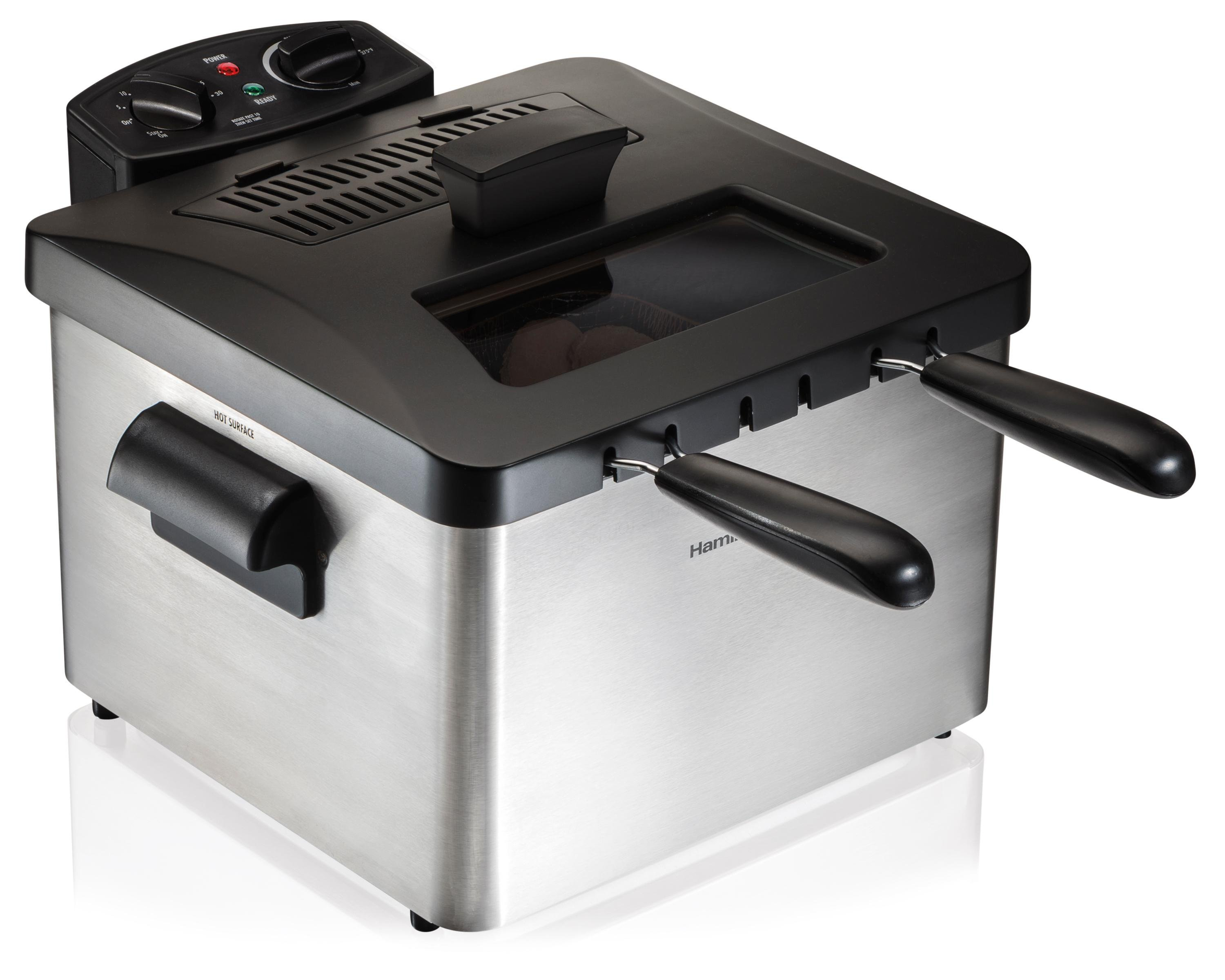 Hamilton beach electric deep fryer 4 5 liter for Electric fish fryer
