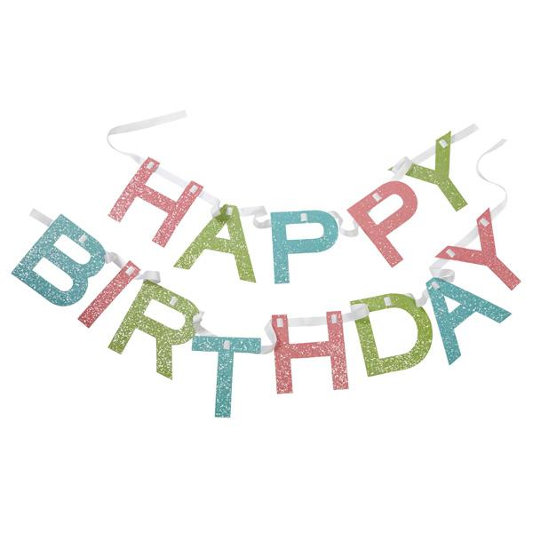 Amazon.com: Martha Stewart Crafts Happy Birthday Banner: Arts ...