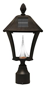 Amazon.com : Gama Sonic Baytown Solar Outdoor LED Light Fixture, Pole