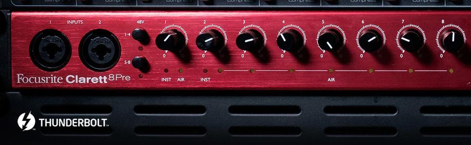 Focusrite Clarett 8Pre USB Audio Soundcard 5