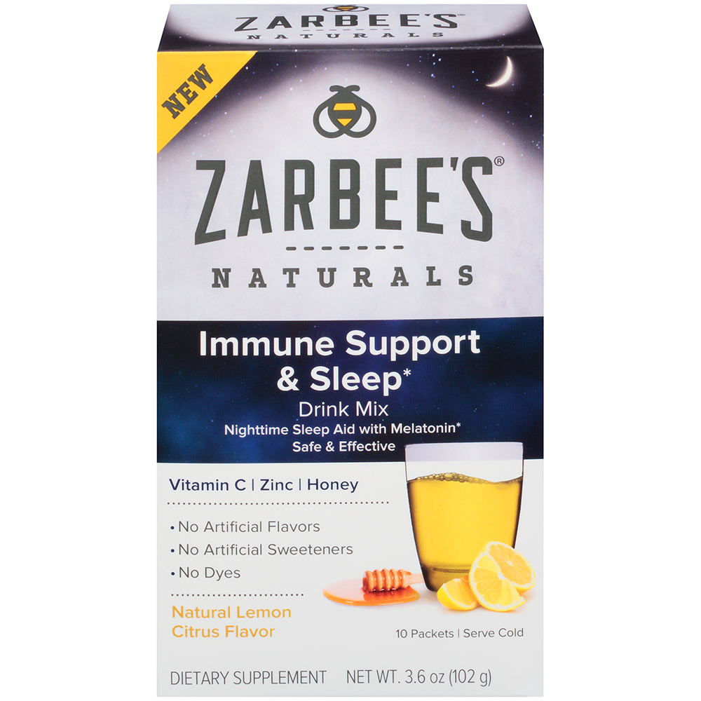Zarbees Naturals Immune Support* and Sleep Drink Mix with Vitamin C, Zinc, Honey and Melatonin,...