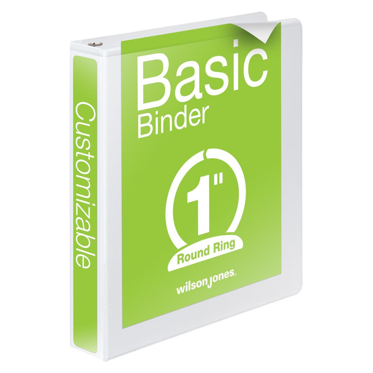 Amazon.com : Wilson Jones 1 Inch 3 Ring Binder, Basic