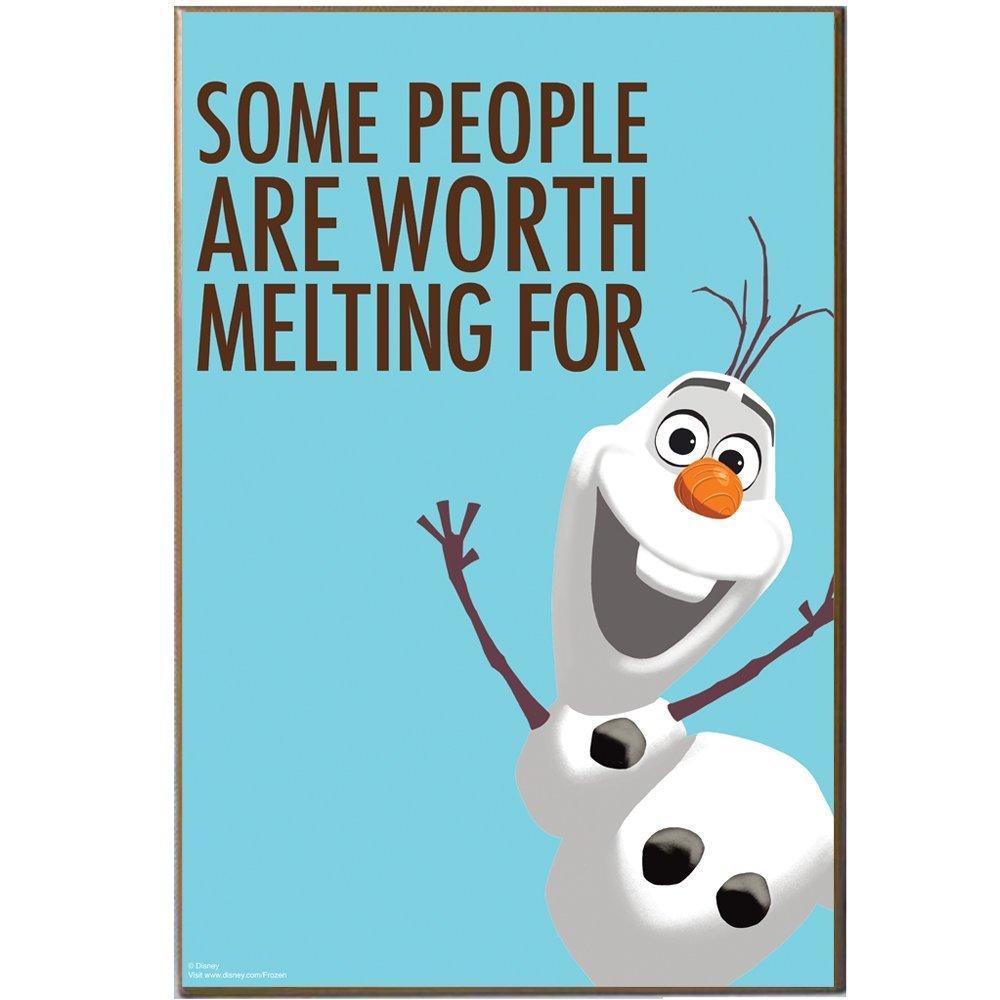 "Disney Quote Plaques: Amazon.com: Silver Buffalo DQ2136 Disney Frozen ""Olaf"