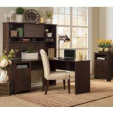 bush furniture buena vista ldesk u0026 hutch in madison cherry finish