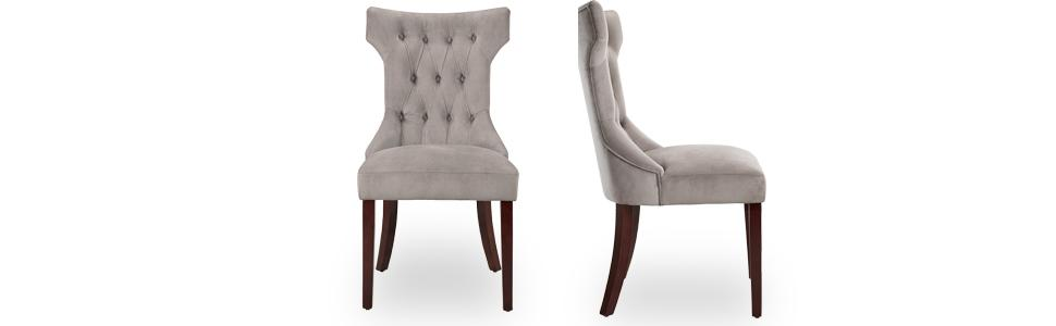 Dorel Living Clairborne Tufted Dining Chair 2 Pack  sc 1 st  Amazon.com & Amazon.com - Dorel Living Clairborne Tufted Upholestered Dining ...