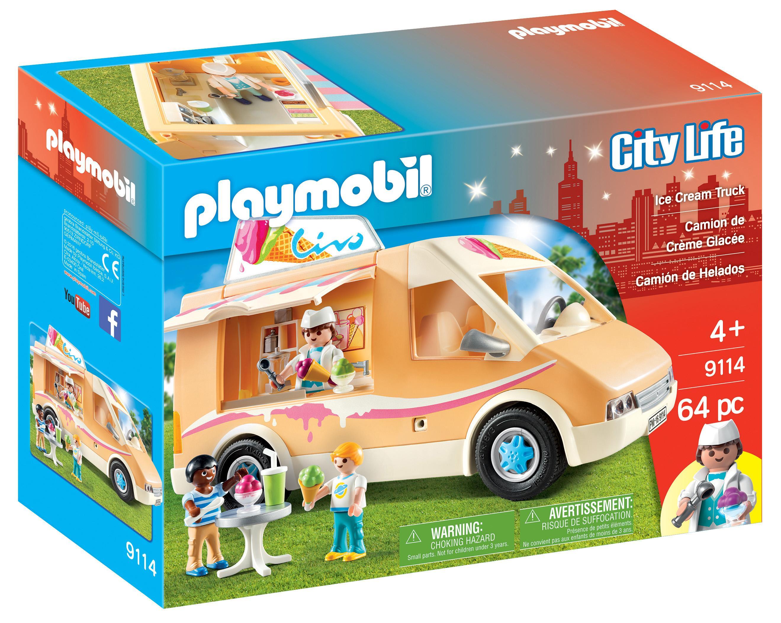 Amazon.com: PLAYMOBIL Ice Cream Truck: Toys & Games
