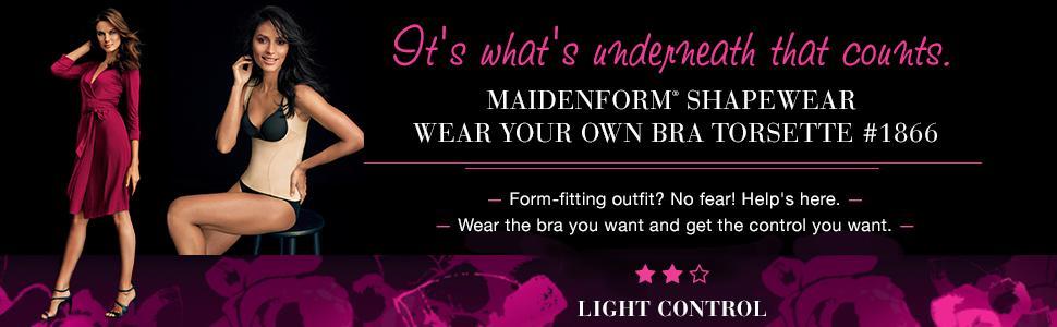 1b0fc53164 Flexees by Maidenform Womens Dream Shapewear Wear Your Own Bra ...